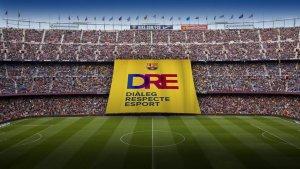 El Futbol Club Barcelona desplegarà una pancarta on s'hi podrà llegir «Diàleg, Respecte, Esport».