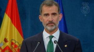 El rei Felip diu que «Espanya ha de fer front a un inacceptable intent de secessió».