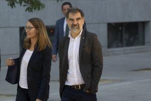 Imatge de Jordi Cuixart aquest matí entrant a l'Audiència Nacional.