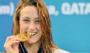 La nedadora olímpica Mireia Belmonte
