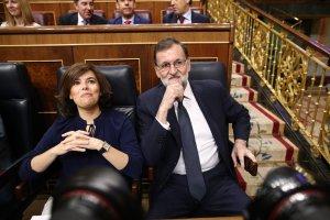 La vicepresidenta del govern espanyol, Soraya Sáenz de Santamaría, i el president Mariano Rajoy.