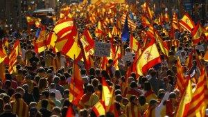 Manifestació unionista a Barcelona del 8-O