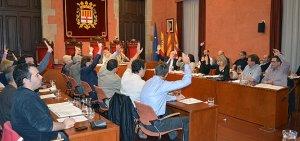 Ple municipal a l'Ajuntament de Manresa