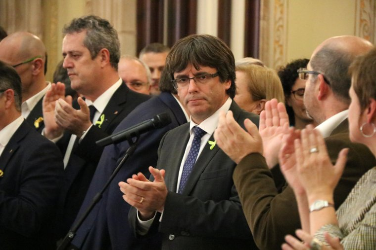 El president de la Generalitat, Carles Puigdemont, el 27 d'octubre.