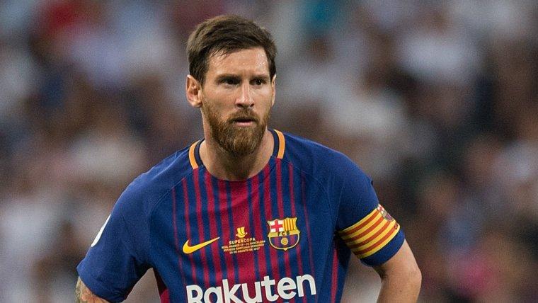 Leo Messi jugant un partit amb el FC Barcelona