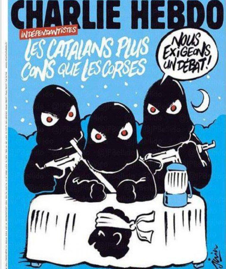 Portada del Charlie Hebdo dedicada a Catalunya