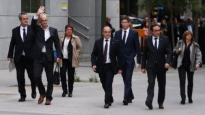 Els exconsellers condemnats a presó entrant a l'Audiència Nacional, el passat dijous 2 de novembre