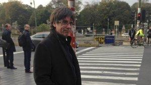 Puigdemont el passat 31 d'octubre a Bèlgica