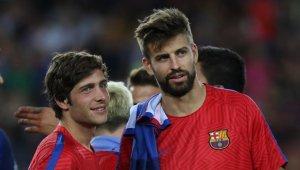 Sergi Roberto i Gerard Piqué, jugadors del FC Barcelona