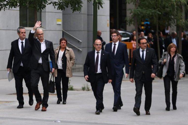 Els consellers condemnats a presó preventiva entrant a l'Audiència Nacional dijous, 3 de novembre
