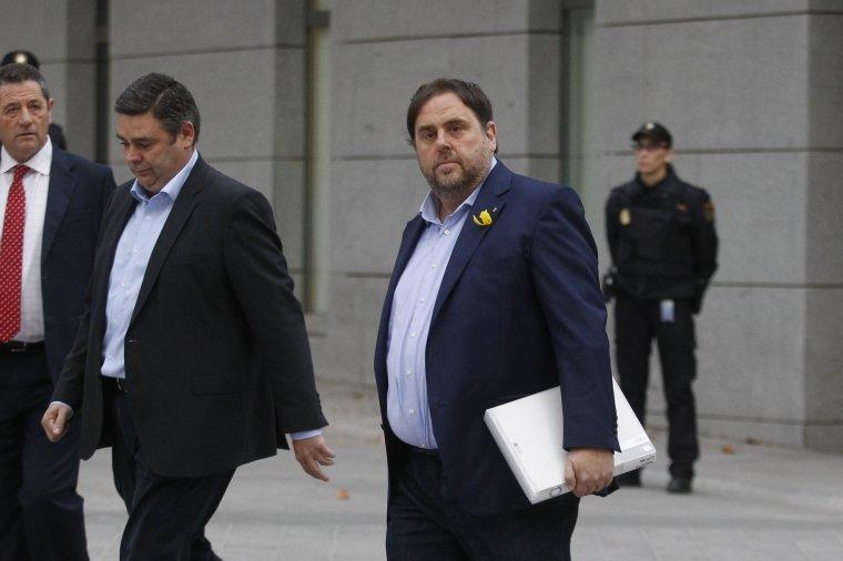 Imatge de Junqueras davant l'Audiència Nacional.
