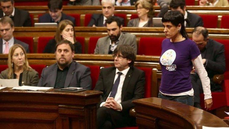 Oriol Junqueras, Carles Puigdemont y Anna gabriel