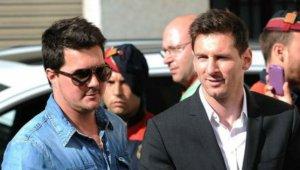 Matías Messi, amb el seu germà, Lionel Messi