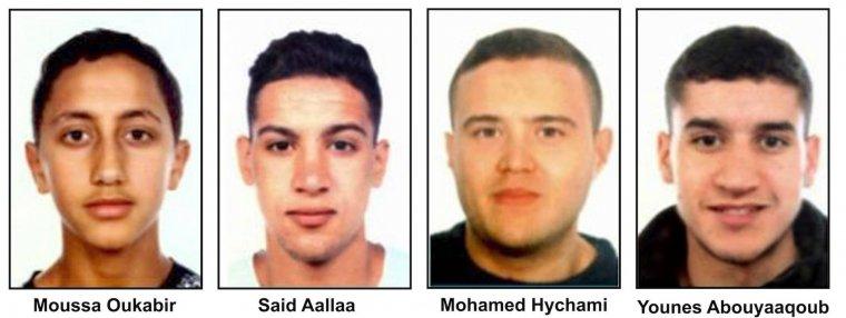 Imatge dels quatre terroristes responsables dels atemptats de Barcelona i Cambrils.