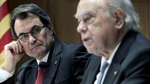 Artur Mas i el seu predecessor, Jordi Pujol, en una imatge d'arxiu