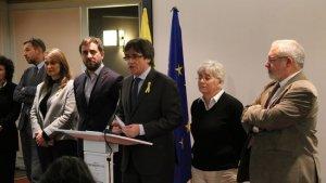Carles Puigdemont i els consellers destituïts