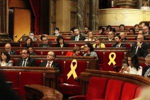Imatge de la sessió constitutiva del Parlament del 17 de gener