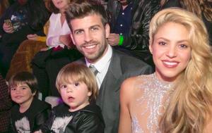 Piqué i Shakira, amb els seus fills