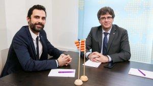 Roger Torrent i Carles Puigdemont