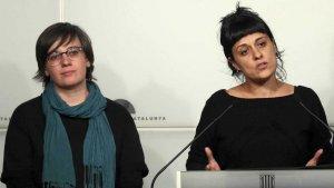 Imatge d'arxiu de les exdiputades de la CUP, Mireia Boya i Anna Gabriel