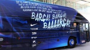 Imatge de l'autobús del F.C. Barcelona