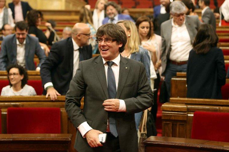 Carles Puigdemont, en un ple del Parlament
