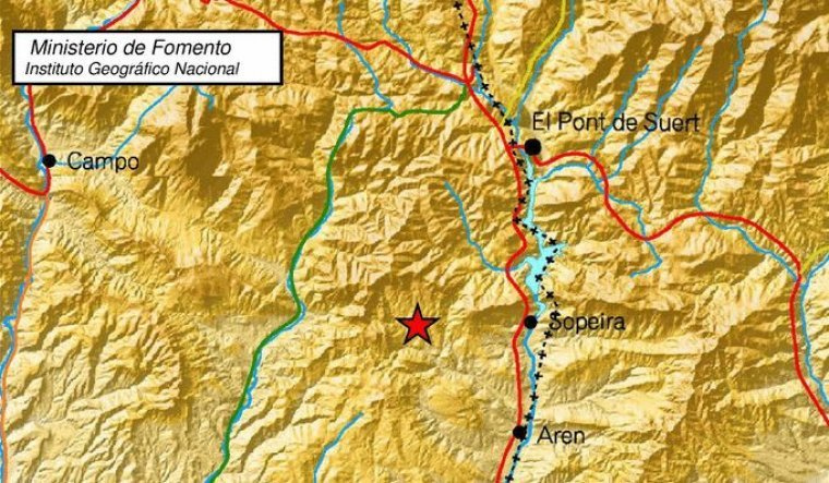 Imatge de l'epicentre del terratrèmol