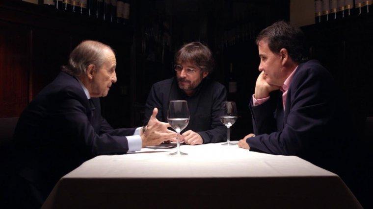 Jordi Évole, José Ramón de la Morena i José María García durant el programa 'Salvados' d'ahir