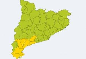Avisos per vent del Meteocat per dilluns al Camp de Tarragona