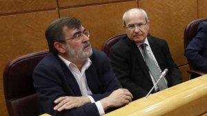 Francesc Antich i José Montilla al Senat en una imatge d'arxiu