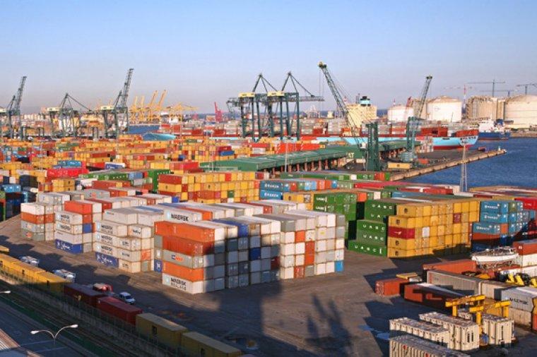 Els contenidors del port de Barcelona, en una imatge d'arxiu
