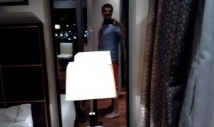 Albert Cavallé en un hotel de luxe de Barcelona.