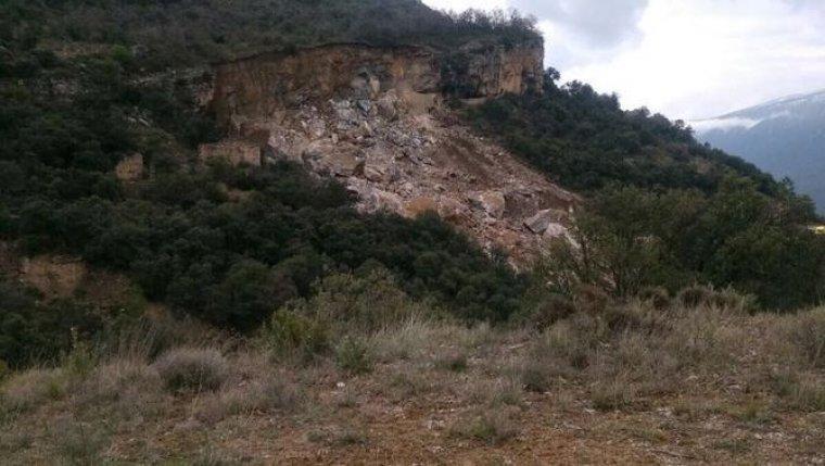 Caiguda de roques al Pallars Jussà.