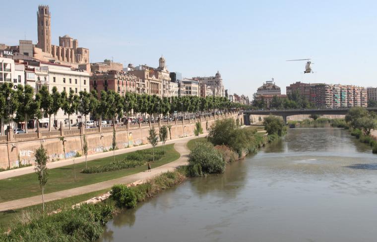Lleida, a la zona del riu Segre, en una imatge d'arxiu.