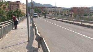 Imatge del pont, entre Igualada i Santa Margarida de Montbui, on el jove va ser atropellat.