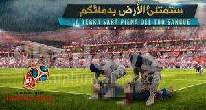 Imatge difosa pels gihadistes (pixelada per CatalunyaDiari.cat) amb Messi i Cristiano.