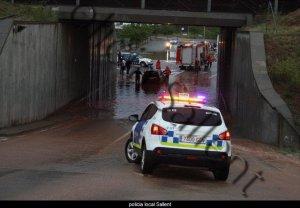 Les tempestes han provocat inundacions a Sallent