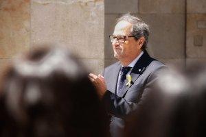 Quim Torra, després de prendre possessió al Palau de la Generalitat