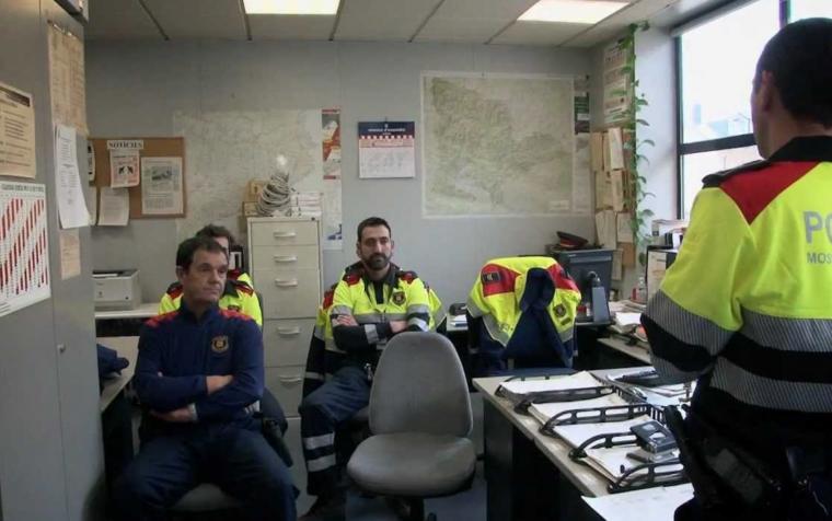 Imatge d'arxiu d'una reunió d'efectius de Trànsit dels Mossos d'Esquadra.