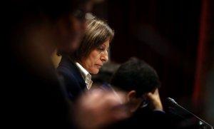 Carme Forcadell, al Parlament de Catalunya