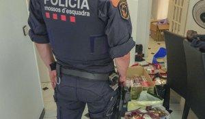 Imatge d'un agent dels Mossos d'Esquadra durant l'operatiu d'aquest dimarts