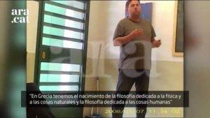 Imatge extreta del vídeo filtrat de la presó d'Estremera