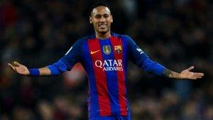 Neymar, amb la samarreta del Barça