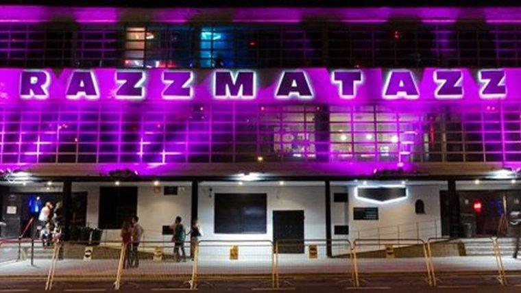 Imatge de la façana de la sala de concert Razzmatazz de Barcelona.