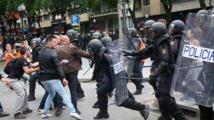 Carregues policials a Tarragona durant l'1-O