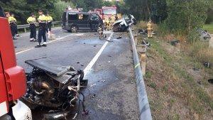 Imatge del punt de l'accident, al terme municipal de Vidreres.