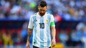 Leo Messi, durant el Mundial de Rússia 2018