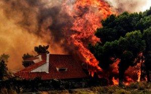 Les flames arriben a les cases
