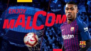 Malcom, presentat pel Barça