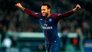 Neymar Jr., celebrant un gol amb el PSG
